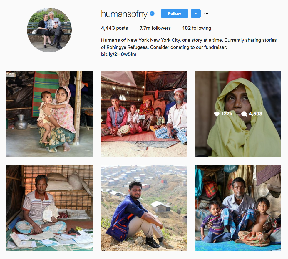 Instagram Marketing Strategy - Humans of New York
