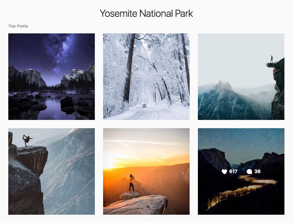 Instagram Marketing Strategy - Yosemite National Park Instagram