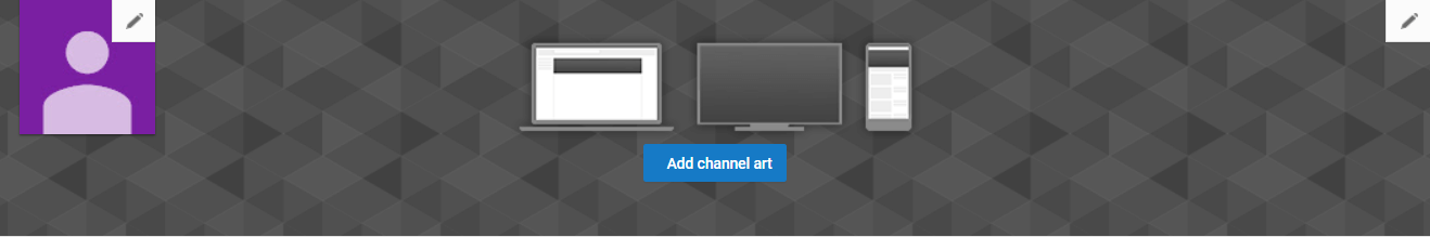 Selecting artwork for your company YouTube channel.