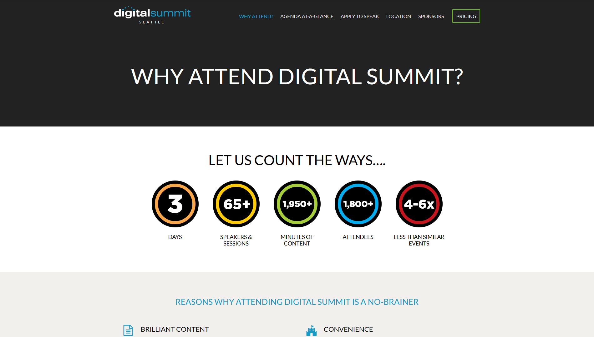 Digital Summit Seattle has more than 60 speakers and 2000 minutes of content