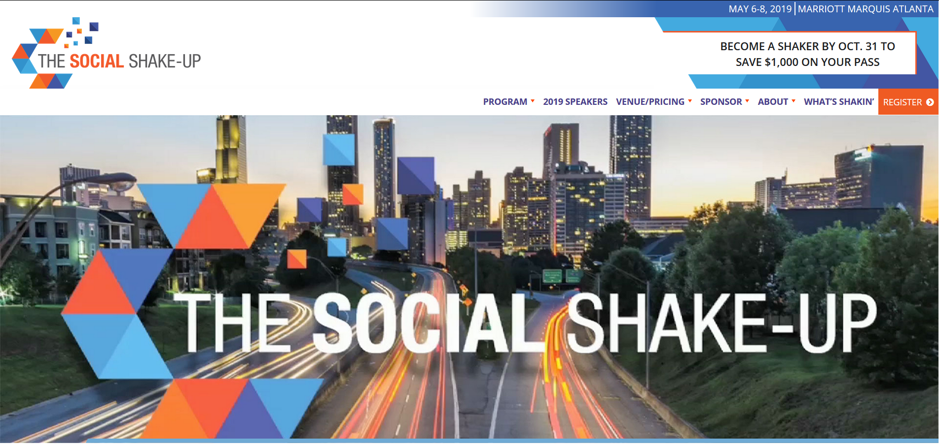 The Social Shake-Up is held in Atlanta