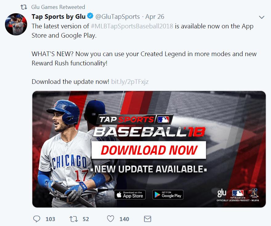 A CTA on a Twitter post.